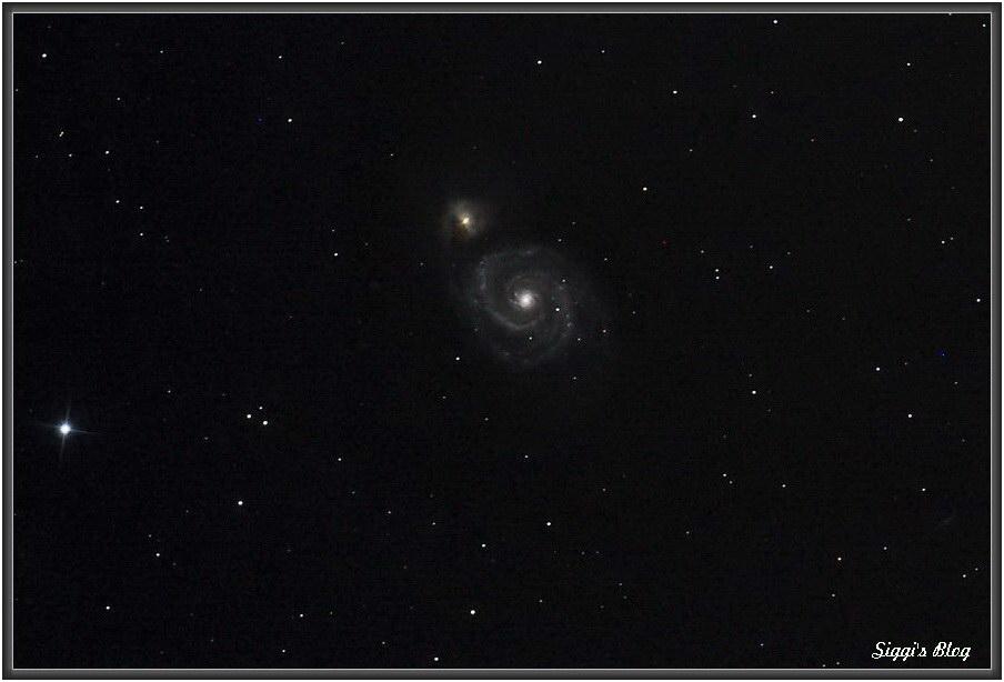 M51 Einzelbild 60s ISO1600
