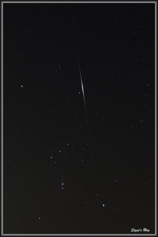 Iridiumflare am Orion