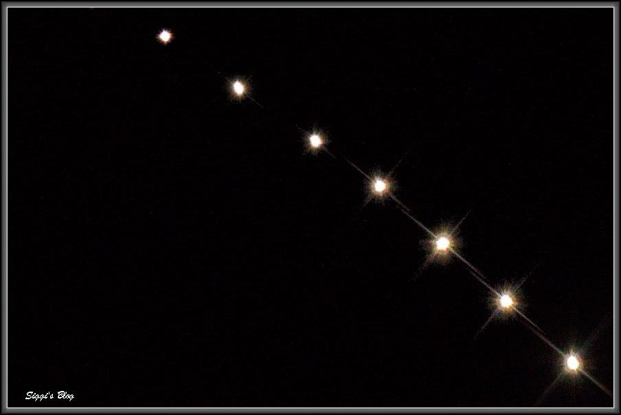 Iridium Flare im Teleskop