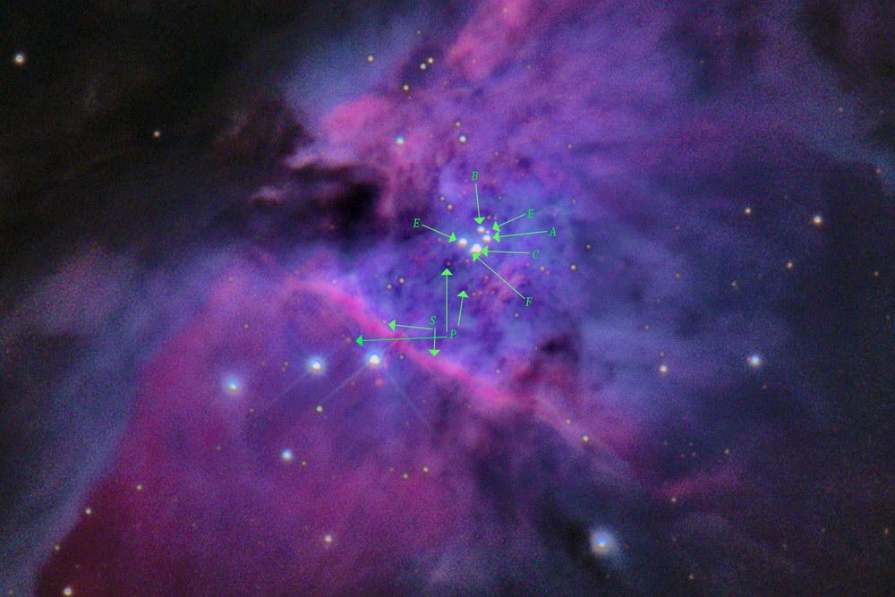 Orion Nebel Zentrum