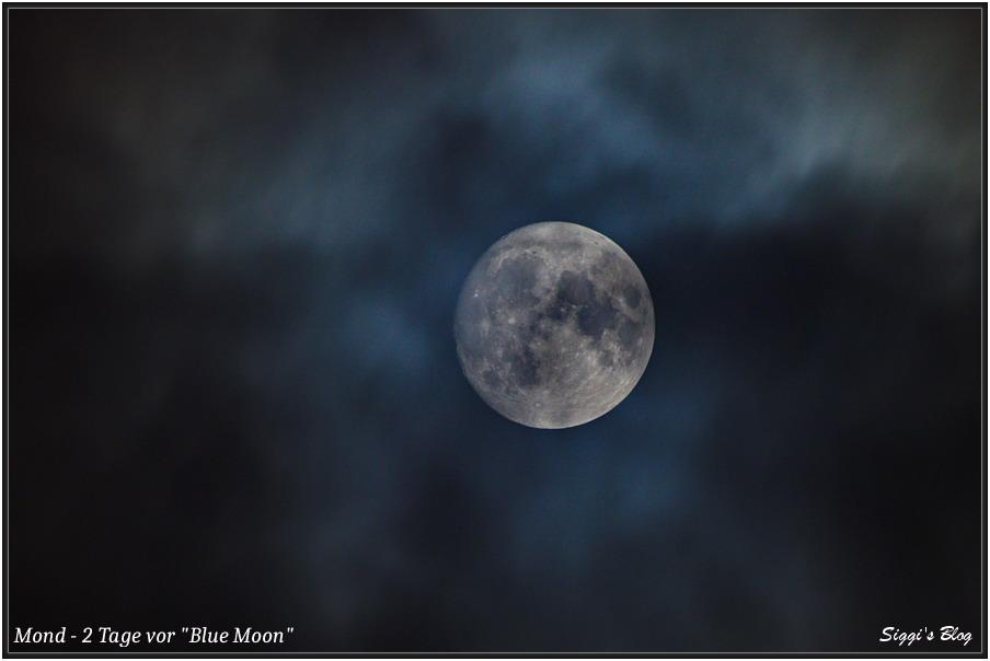 """201029 Mond 97% 2 Tage vor """"Blue Moon"""" im Oktober 2020"""
