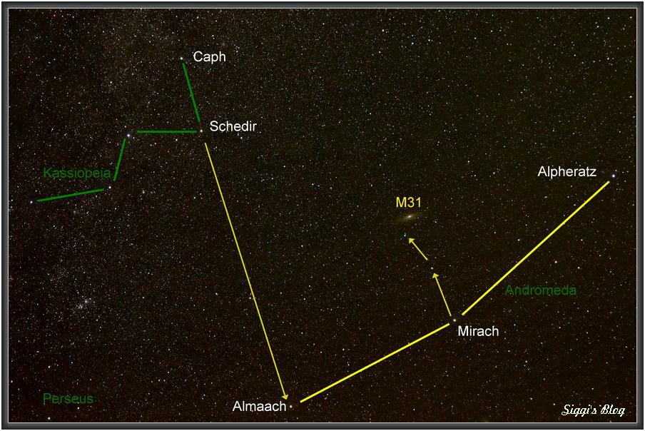 Auffindekarte M31