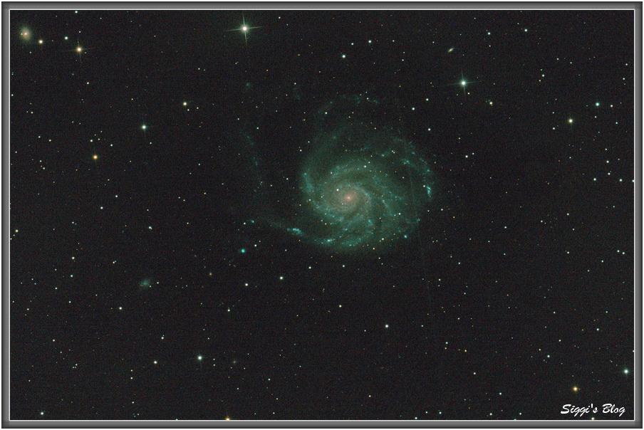 150813 M101 / NGC 5457  Feuerradgalaxie / Pinwheel-Galaxie