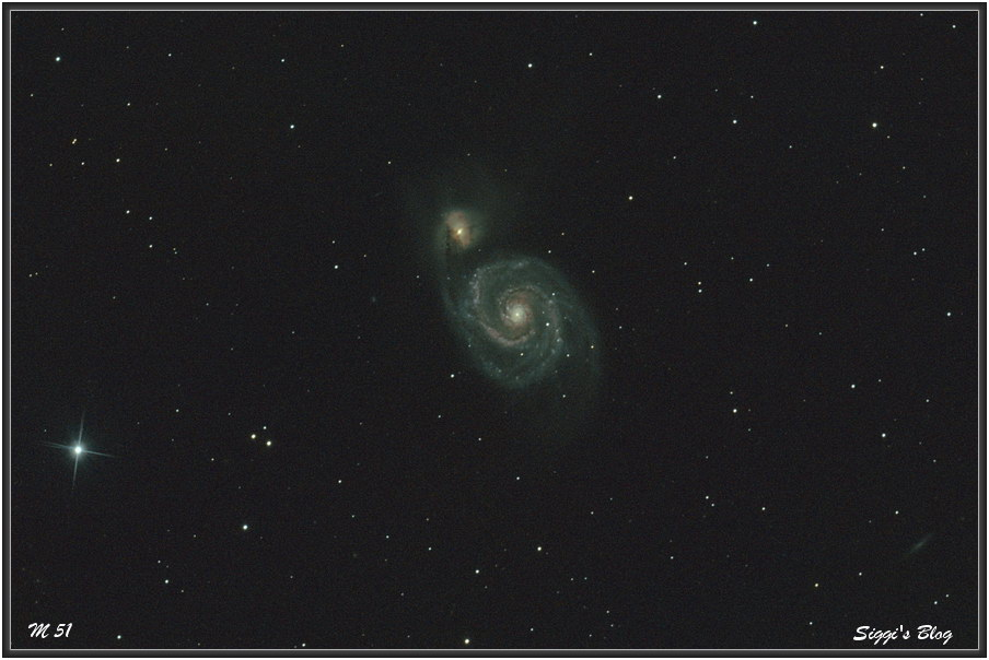 150219 M51 (NGC 5194/5195)  Strudelgalaxie / Whirlpool-Galaxie