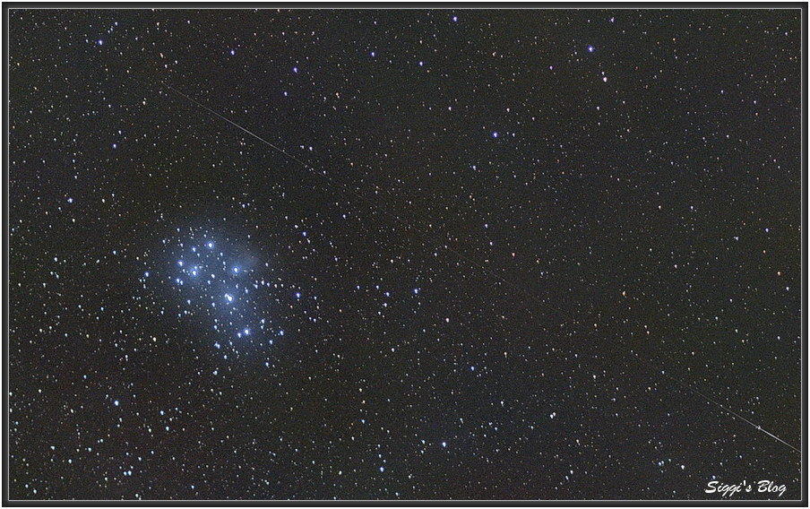 160114 Satellit und M45