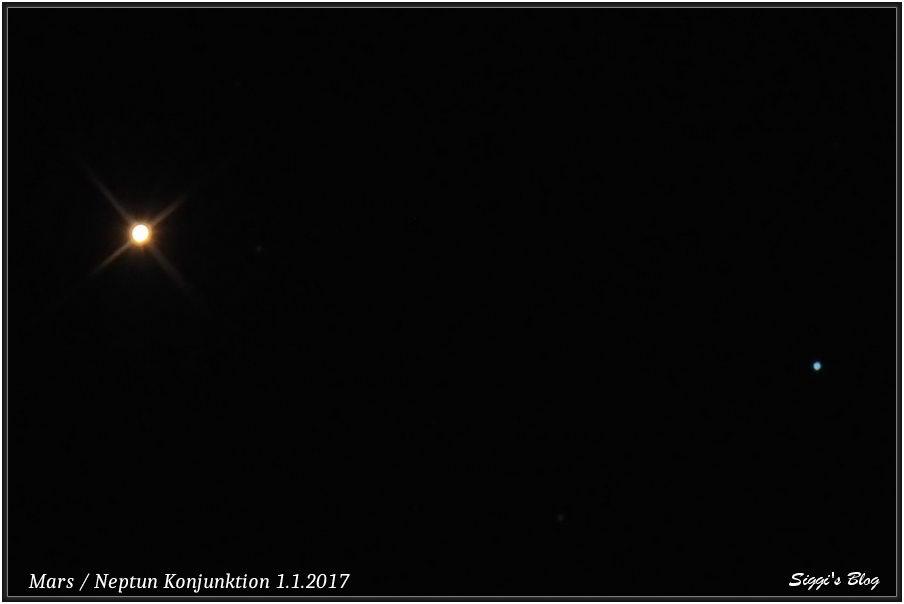 170101 Mars Neptun Konjunktion 1.1.2017
