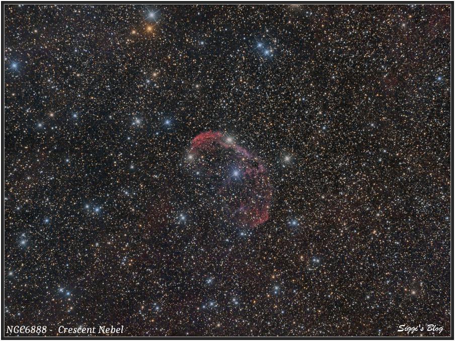 160830  NGC6888 (Mond)Sichelnebel - Crescent Nebel