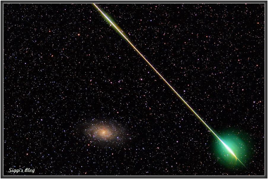 171015 M33/Dreiecksgalaxie  und Meteor