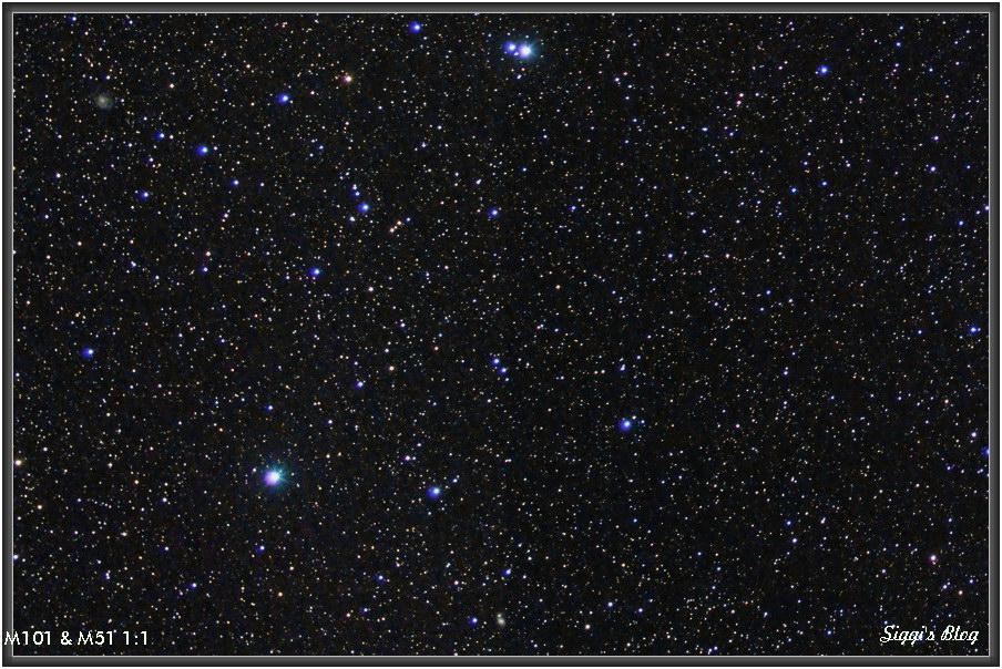 170331 UMa - M101 und M51 1:1 Crop