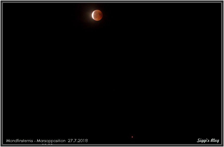 180727 Mondfinsternis - Mars Opposition (5.9 °)