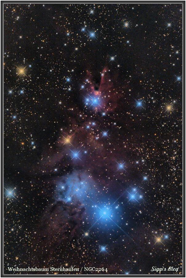 161229  NGC2264 Weihnachtsbaum Sternhaufen Vers.2