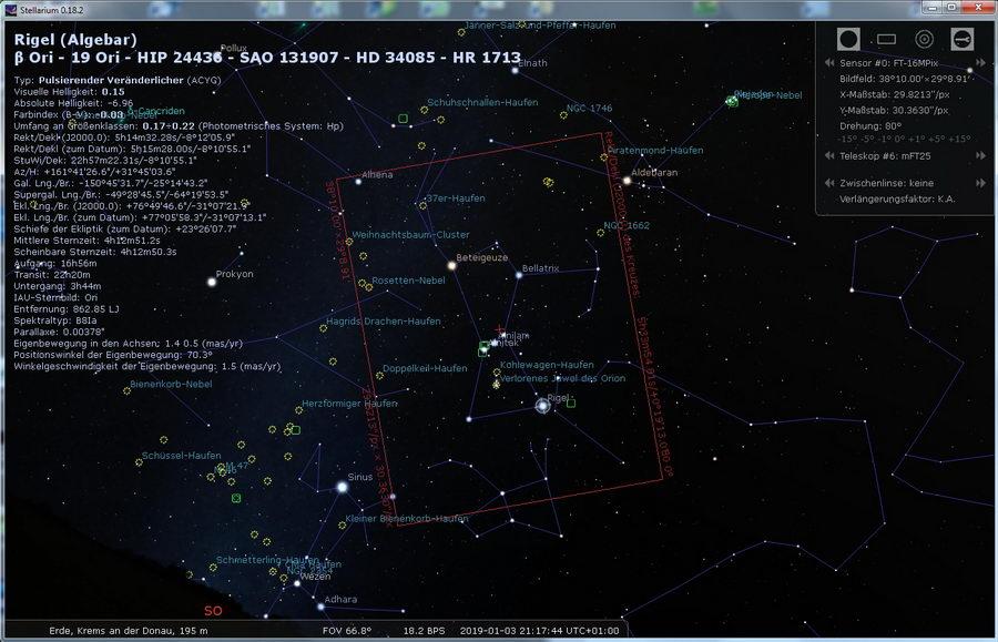 Stellarium - Orion  mit 25mm