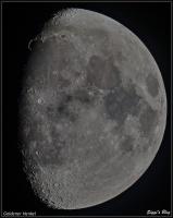 200105 Mond 74% Beleuchtet mit Goldenem Henkel