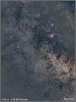 160807 Südliche Milchstraße Sternbild Schütze mit M8 und M20