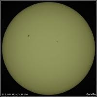 190510 Sonnenflack AR2741 und AR2740